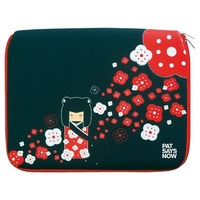 "Pat Says Now Kokeshi 8.9""-11.6"" and 12""-13.3"" Genius Swiss design Laptop Sleeve, Free Shipping !"