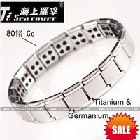 BIG promotion!!!Free shipping!Super deal!80 Germanium Stones Titanium Bracelet