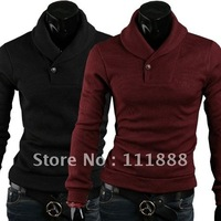 Pure color of new fund of 2013 han edition cultivate one's morality sweater big yards men turtleneck sweater