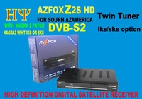 AZFOX Z2S digital satellite HD Twin Tuner SKS IKS, Nagra3 free shipping AZFOX Z2S TWIN TUNER With SKS WIFIPATCH Nagravision 3.0
