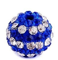New Arrival Shamballa Beads Sapphire Pave Crystal Round disco ball beads Wholesale Shambhala beads Size 10mm Free Shipping ZG161(China (Mainland))