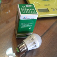 Small Size 3W Led Bulb, High brightness, Replace 25W traditional lamp, Ce & Rohs, 2 Years Warranty , M.o.Q: 1pcs.