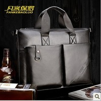 male brand genuine leather handbag ,briefcase portfolio messenger business suitcase ,dispatch folio attache case