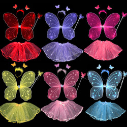 Halloween party supplies child products single tier butterfly wings piece set(China (Mainland))