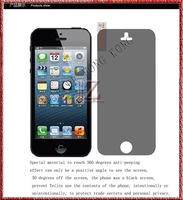 anti-peep screen protector for ip[hone 5 New and original MOQ 500pic//lot shipping UPS EMS DHL FEDEX TNT 3-7day