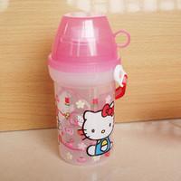 Hello kitty child water bottle glass long belt cross-body