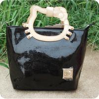 Hello kitty patent leather embossed handbag - HELLO KITTY handbag princess bag small tote bag