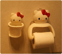 Hello kitty tissue box three-dimensional cartoon towel rack toothbrush holder debris barrel debris rack