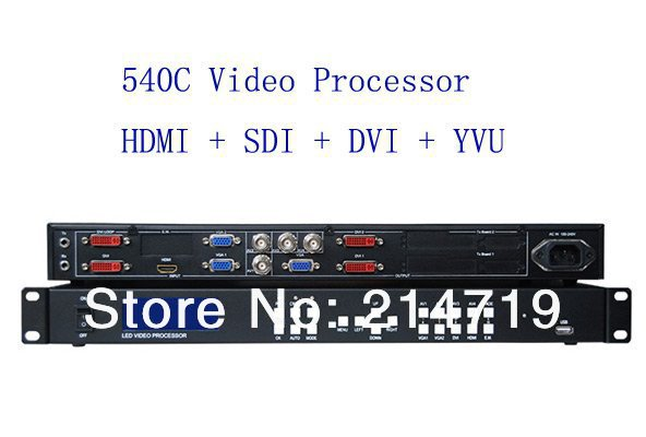 540C rgb Composite/Hdmi/Yuv input Dvi/Vga/Sdi output 540C Led Display Video Processor , Free shipping DHL!(China (Mainland))