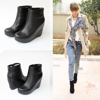 Fashion jeffrey campbell pixie boots platform wedges elevator platform high heel genuine leather boots