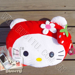 (free shipping CPAM) 2 pcs/lot Kt cat cushion plush toy cloth doll gift birthday gift cushion(China (Mainland))
