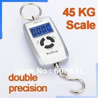 10g-45Kg Digital Precision Scale Portable Scale Luggage Fishing Electronic Hook Scale silver Free Shipping Dropshipping