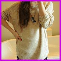 Hitz Women Korean style loose Plus size hollow bat sweater women pullover ,3116