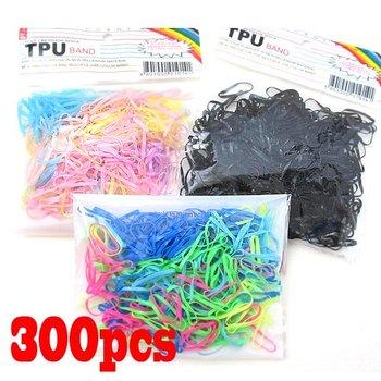 Rubber Hairband Rope Ponytail Holder Elastic Hair Band Ties Braids Plaits [9901490,9901491,9901492]