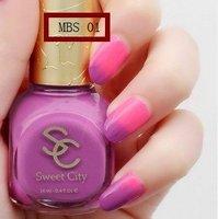 The Environmental nail polish temperature-controlled color of sweet color  NO.12   free shipping