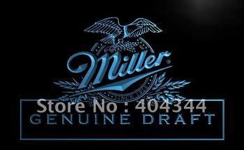 LE054-TM Miller beer Draft Bar Pub Club Neon Light Signsled Crystal Light Box Hang Doorplate Shop Ultra-thin Light