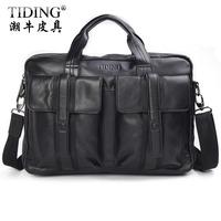 Cattle commercial man bag cowhide briefcase male genuine leather one shoulder cross-body handbag bag 1022