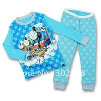 Комплект одежды для девочек 2013 New Children Girls boys Clothing Set Long Sleeves cotton pajamas suit cartoon Winnie Design Kis clothing sets