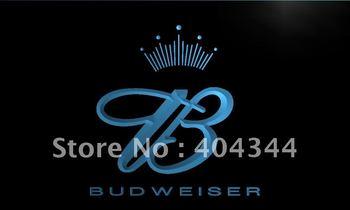 LE006-TM Budweiser King Beer Bar Pub Club Neon Light Signled Crystal Light Box Hang Doorplate Shop Ultra-thin Light