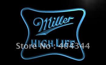 LE077-TM Miller High Life Beer Ad Bar Pub Neon Light Sign. Advertising. led panel led sign