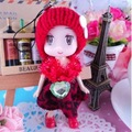Free Shipping 100% New 12Pcs/Lot  Fashion Doll 10cm Toy Doll Hair Pendant&Key Chain Wedding Gift Girl Sale Vinyl Doll YG006