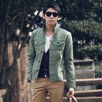 2012 NEW, brief design ALL-MATCH elegant fashion cool men's denim jacket coat