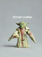 Free shipping star wars Yoda pvc anime figure/kids figures toys/children Christmas ,new year gift