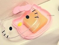 Retail Hello kitty new arrival shape transparent soap box  (JD)