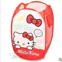 Min Order $20 (mixed order) Cheap Hello kitty laundry basket folding dirty clothes basket (KA-44)