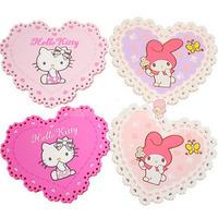 Hello kitty melody love lace heat pad coasters bowl pad  (JD)