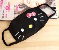 2 pcs/pack Black hello kitty cotton masks personality masks (JD)