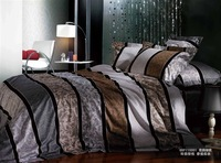 New Beautiful 4PC 100% Cotton Comforter Duvet Doona Cover Sets FULL / QUEEN / KING SIZE bedding set 4pcs colorful stripe