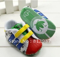 Free shipping wholesale 2012  fashion chic bright sunshine color block  racing shoes style  BB shoes/prewalkers