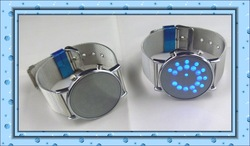 Freeshipping 1pcs/lot men's military watch, wholesale New creative circular,factory directly supply, steel band mirror face(China (Mainland))