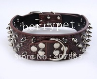 Fashion personality mushroom nail leather pet collar pet supplies