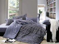 New Beautiful 4PC 100% Cotton Comforter Duvet Doona Cover Sets FULL / QUEEN / KING SIZE bedding set 4pcs grey stripe