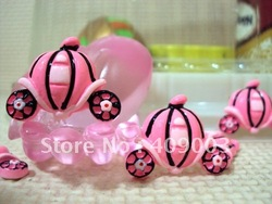 26*20*7mm princess pumpkin car resin hairbows printed ribbon freeshipping(China (Mainland))