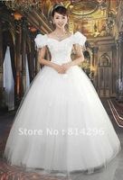 Free     shipping    Latest wedding sweet princess wedding dresses