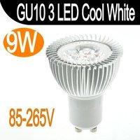 9W 3x3W GU10 Cree 3 LED Spot Light Cool White Bulb Lamp 110V/220V Energy Saving Fedex free
