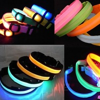 Min Order $20 (mixed order) Pet collar led collar nylon webbing collar  (HD)