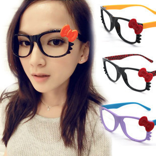 9035 magazine hello kitty glasses frame handmade bow cat the trend of the mirror(China (Mainland))