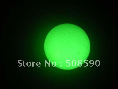 free shipping10pcs/lot glow in the dark golf ball luminous golf ball for Christmas(China (Mainland))