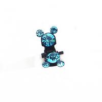 Free shipping Ya Diena Rhinestone Mickey catch clip multicolor options Q0455