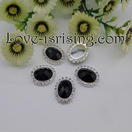 Nova Arrival--10pcs preto plano voltar Oval A-Grade Rhinestone Diamante Cluster convites de casamento cartão Weding caixa Favor(China (Mainland))