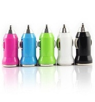 Universal Colors Mini USB Car Charger For IPhone 4 4G 4S 3G IPod ITouch HTC Samsung Blackberry Nokia Motorola Auto Adapter 50PCS
