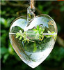 2012 Hot Sale!! Artificial Flower Arrangements Vases 1 Hole Hanging Glass Vase LOVE Shape in Wedding Decoration FL146-2