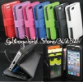 3 credite Card Slot Book Style Leather Case For iPhone 5 5G,Wallet Case Free Shipping