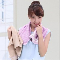 Free shipping!wholesale 5pcs/lot 120g bamboo cotton  absorbent thicker women soft  towel/ face towel /face cloths/washer towel
