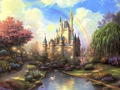 Famous paintings,Thomas kinkade oil painting,pino,House, Auto,pet, wedding photo picture custom print on canvas