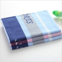 Free shipping!new arrival wholesale 34*110cm 145g 5pcs/lot absorbent soft sports towel/ face towel /face cloths/washer towel